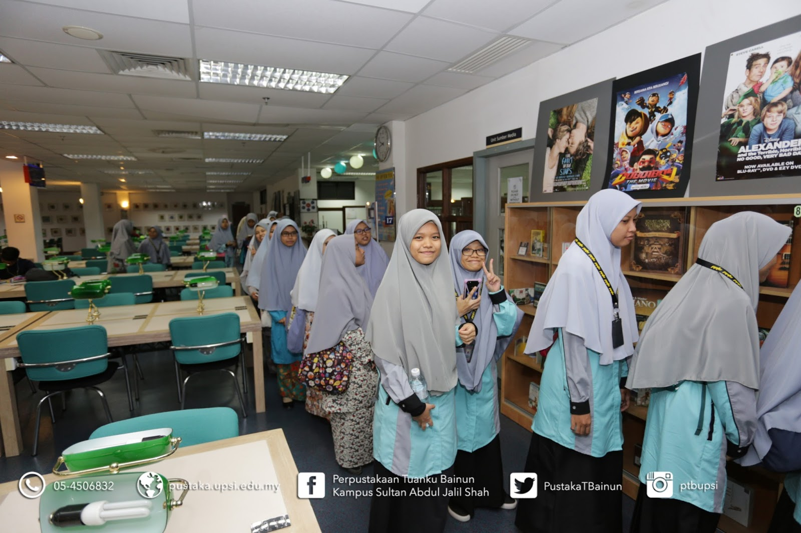 Lawatan Sekolah Agama Menengah Tinggi Sultan Hisamuddin Klang Selangor Upsi Perpustakaan Tuanku Bainun