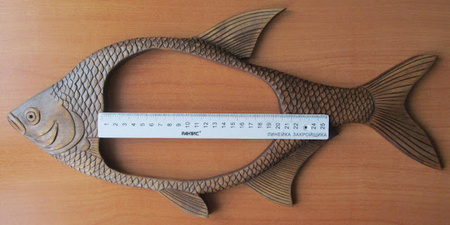 wood frame for photo in the form of fish