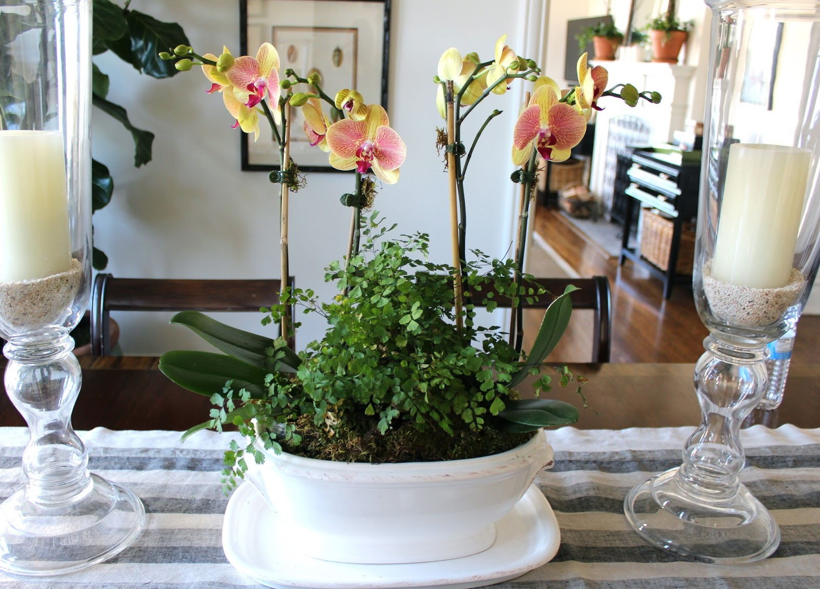 Classic • Casual • Home: Dining Room Table Centerpieces