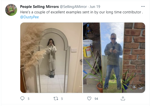 Selling mirrors