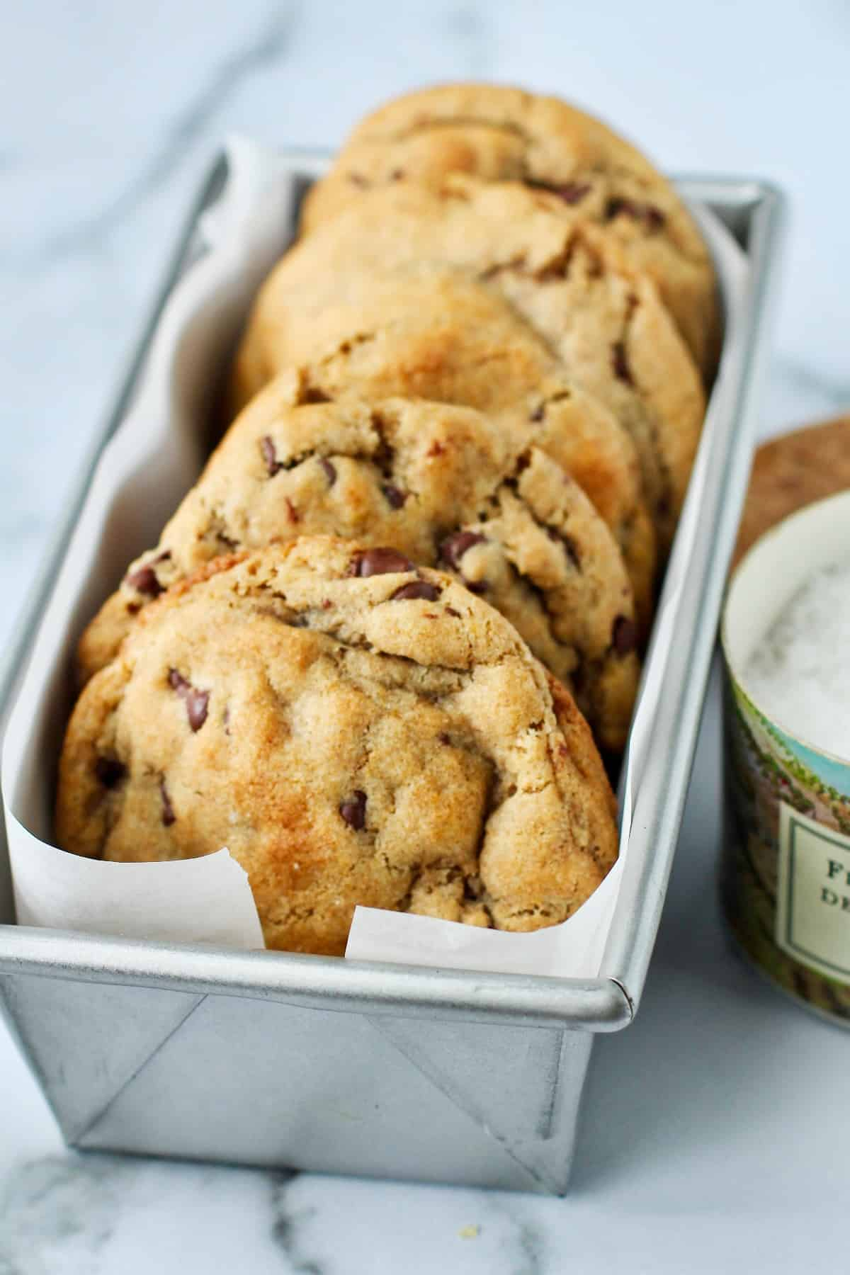 Sourdough Browned Butter Chocolate Chip Cookies