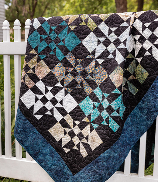 Disappearing Hourglass Crazy Eight Quilt designed by Jenny of Missouri Quilt Co