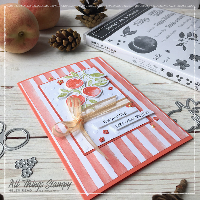 Stampin Up! card using You're a Peach Suite Sweet as a Peach stamp set