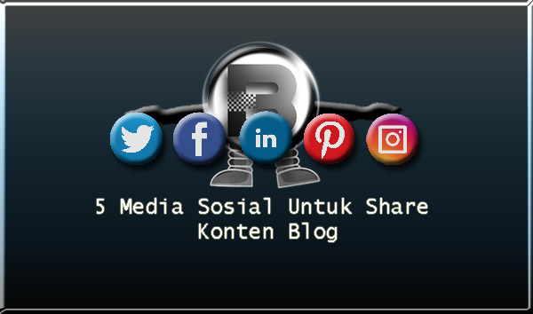 5 Media Sosial Untuk Share Konten Blog