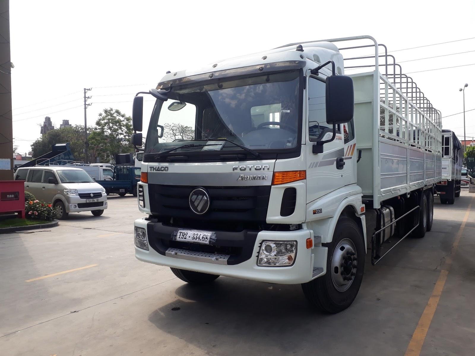 Bán xe tải 3 chân Thaco Auman AC1350  tại Hải Phòng trả góp, hỗ trợ thủ tục đăng ký ngân hàng