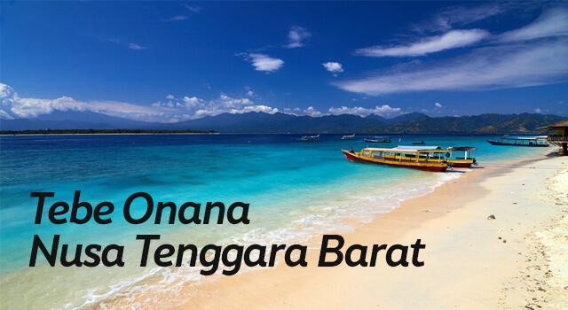 Lirik Lagu Tebe Onana - Nusa Tenggara Barat