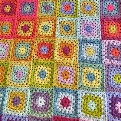 'Aria' crochet blanket in progress