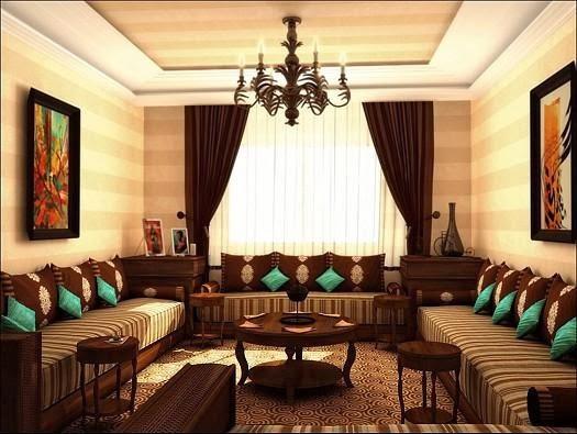 salon-marocain-décoration-orientalejpg (850×500) Moroccan living