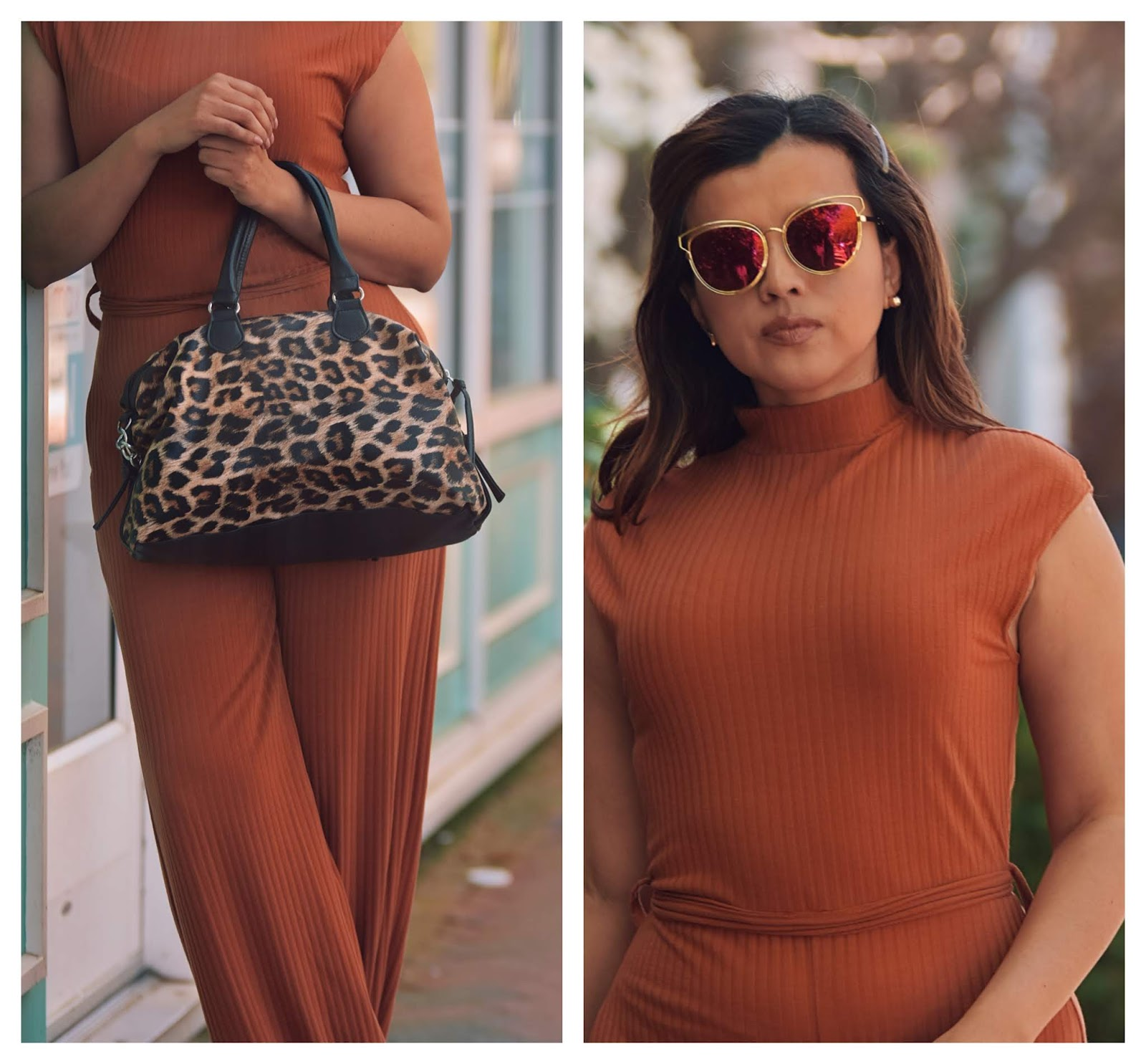 Rust High Neck Ribbed Jumpsuit - mariestilo-luxegal-fashionblogger-dcblogger-richmond-virginia is for lovers-femmeluxe-marisolflamenco-moda-ootd-