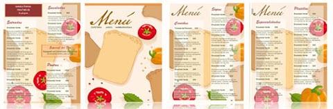 Plantillas para crear menú de restaurante editables en Office Word y PDF