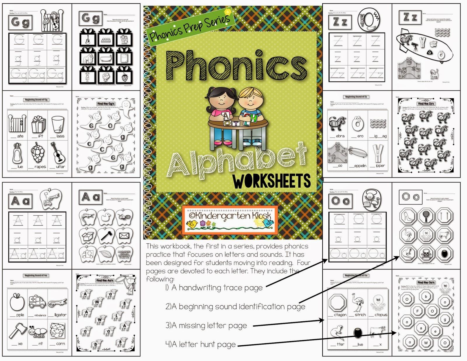 Kindergarten Kiosk Phonics Prep 10 Part Series
