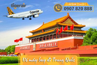 Vé máy bay đi Trung Quốc hãng Tiger Air