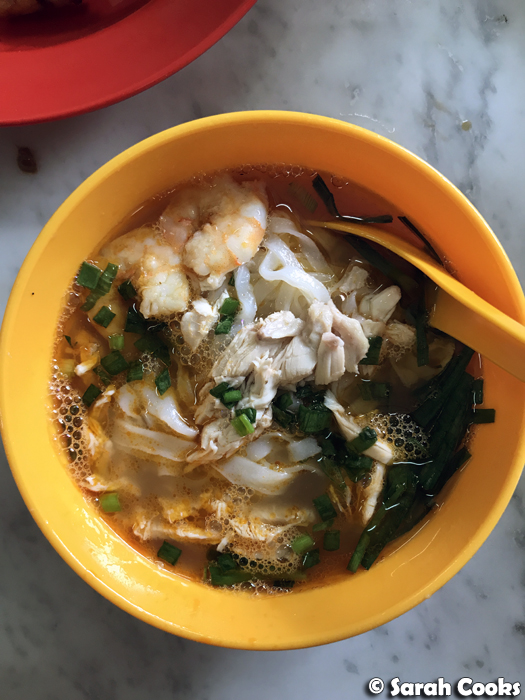 Chicken and Prawn Rice Noodle Soup, Thean Chun