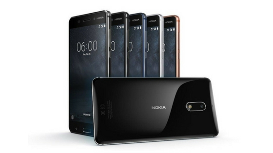 Nokia 6 comes in black, blue, copper and silver color variants