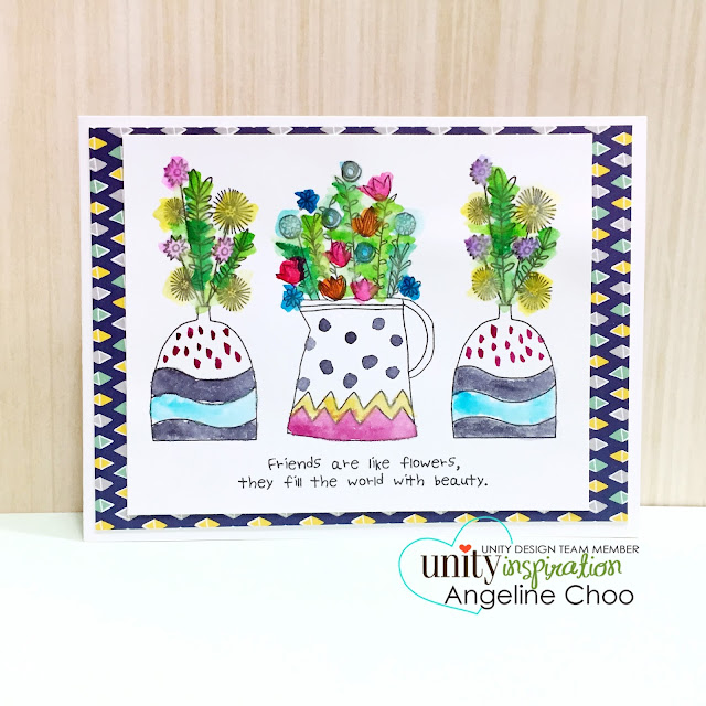 ScrappyScrappy: Watercolor Cards and NEW VIDEOS #scrappyscrappy #unitystampco #stamp #card #cardmaking #painting #flowers #peerless #watercolor #youtube #quicktip