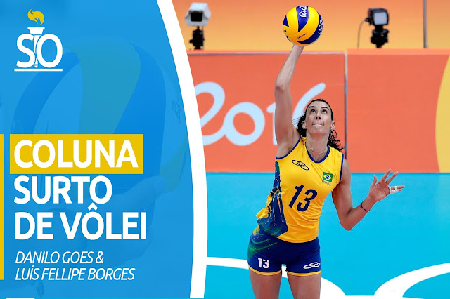 Na Coluna Surto de Vôlei, Sheilla atacando bola na Rio-2016
