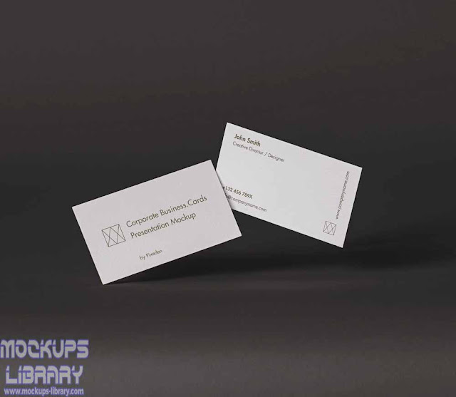 corporate business card mockups