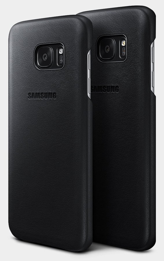 custodia pelle s7 edge samsung led