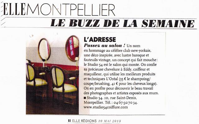 """Article du magazine """"Elle"""", édition Languedoc-Roussillon, du 10 mai 2013."""