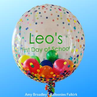 Personalised Balloon by Amy Broadley of Balloonies Falkirk, in Scotland,