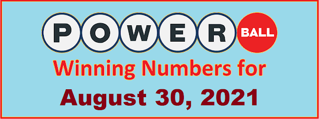 PowerBall Winning Numbers for Monday, August 30, 2021