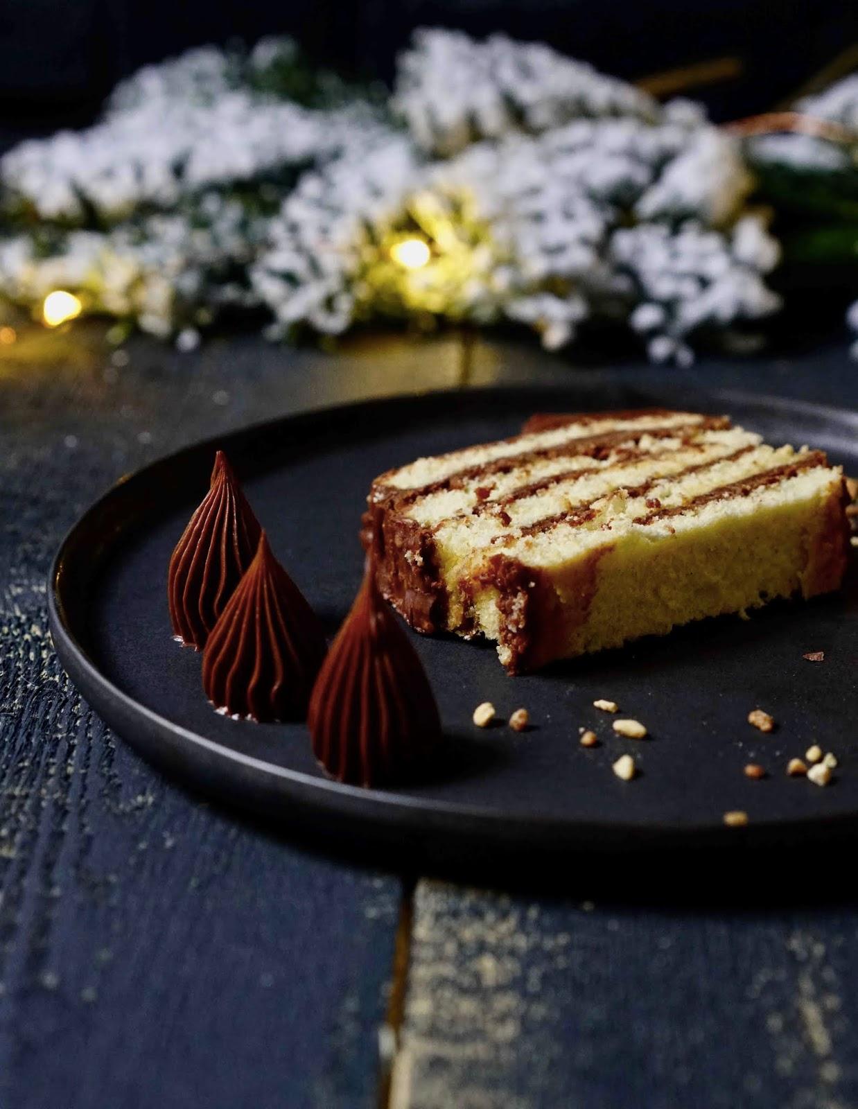gavotte, croustillant praliné , ganache chocolat