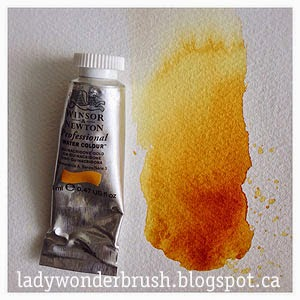 My watercolor friend Quinacridone Gold by Winsor&Newton