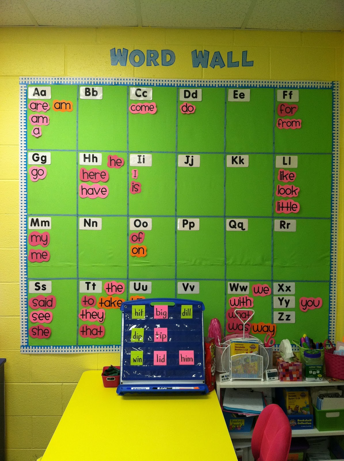 Life In First Grade How We Use Our Word Wall
