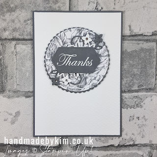 Peony Garden DSP Basic Gray Thank You Card  Stampin' Up!