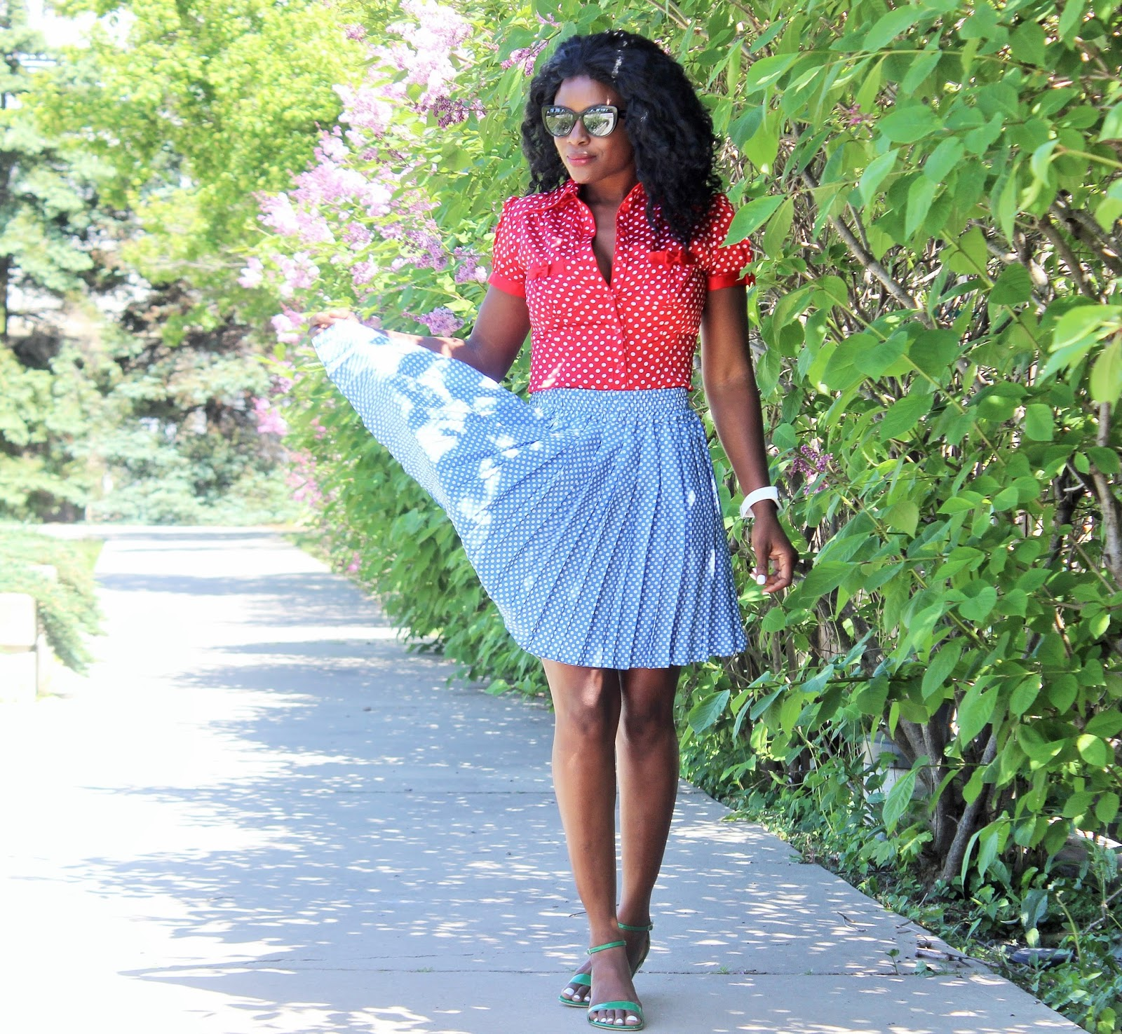 POLKA DOTS AND BOWS | 1 OUTFIT 2 DIFFERENT LOOKS