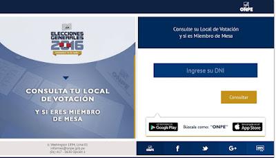 Elecciones 2016, Onpe