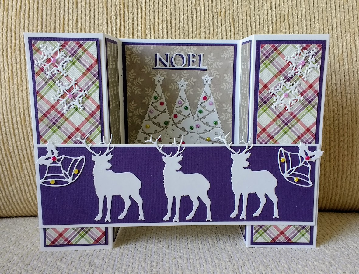 A Passion For Cards: Christmas Bridge fold Card
