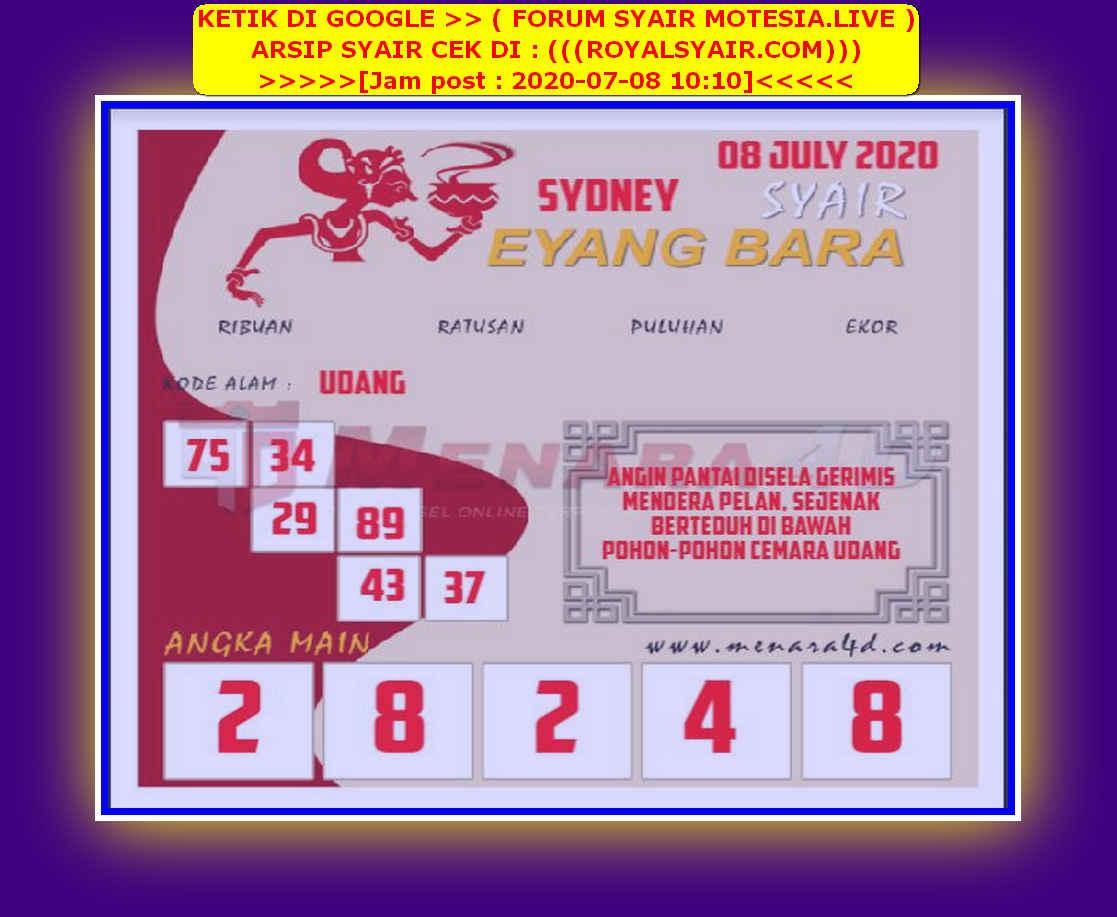 Kode syair Sydney Rabu 8 Juli 2020 171