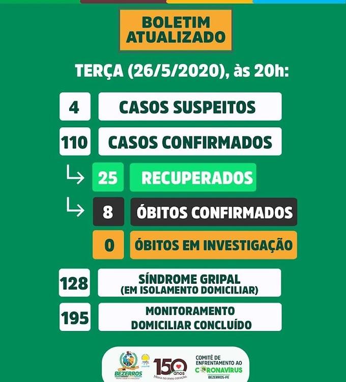 Bezerros confirmou nesta terça-feira (26) mais três casos de coronavírus