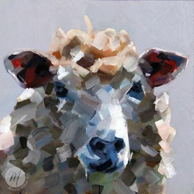 Sheldon the sheep oil painting by Merrill Weber