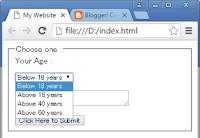 select tag - drop down menu in html