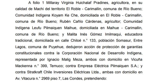 Comunidades indígenas y Statkraft