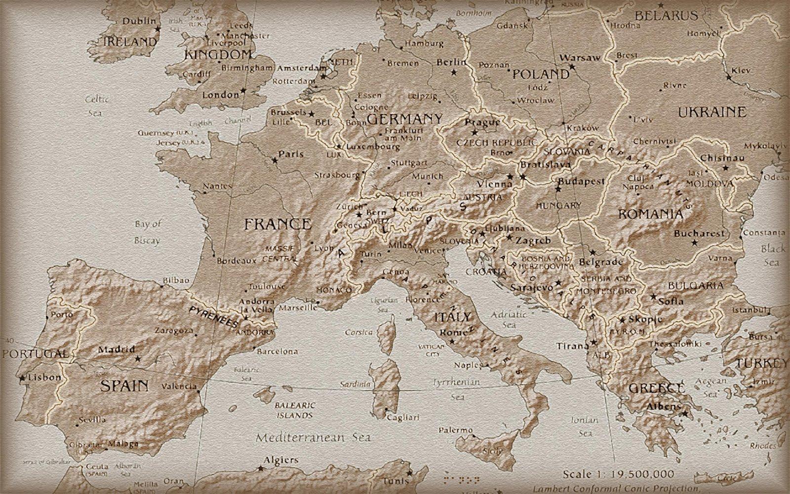Europe Map Wallpaper Hd Hd Blast