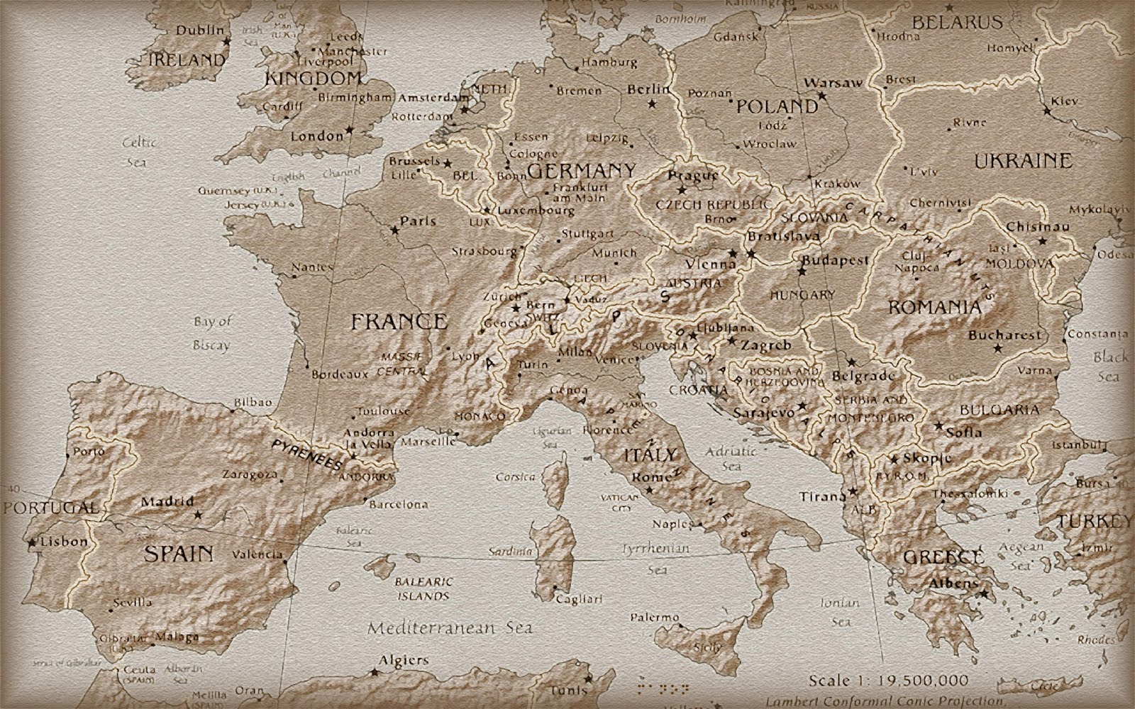 map wallpapers europe map