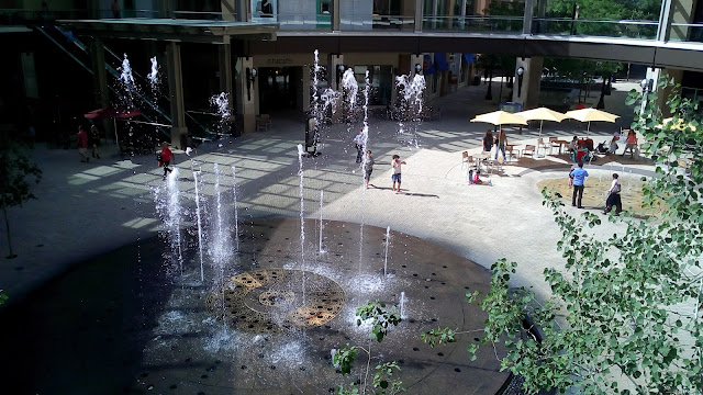 Choreographing fountain at City Creek mall, Salt Lake City