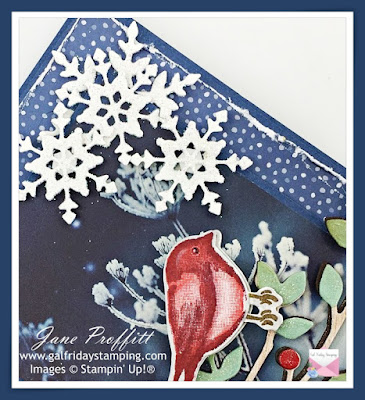 Snowflakes with added glitter die cut using the So Many Snowflakes dies from Stampin' Up!