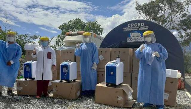 Entregan 18 concentradores de oxígeno para atención en el Vraem
