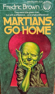 Book cover to Martians, Go Home by Fredric Brown