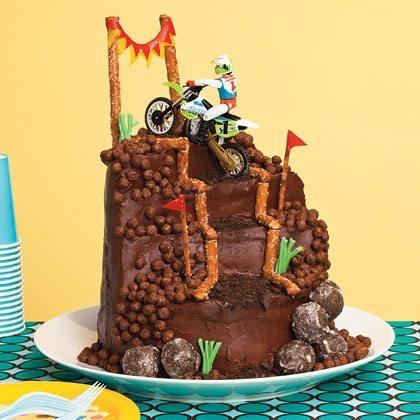 Motocross Mountain Climb Cake