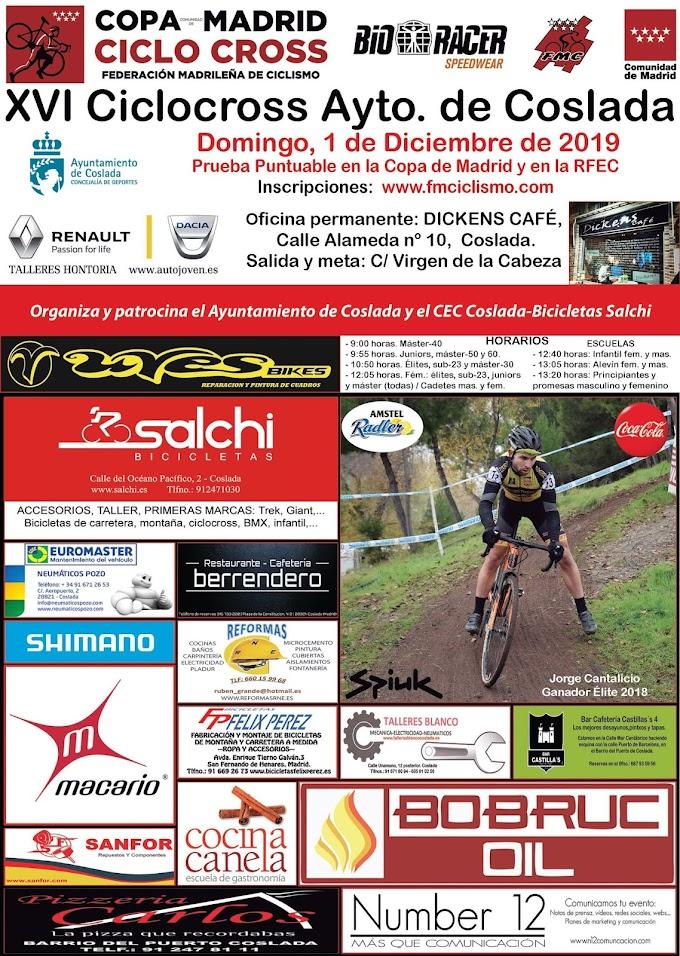 El domingo 1 de diciembre se disputa el XVI ciclocross de Coslada