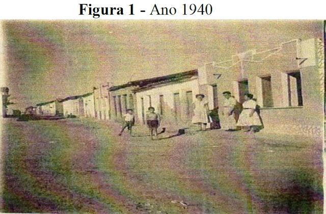 Praça José Coelho 1940 em Várzea da Roça
