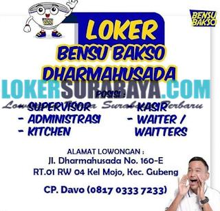 Lowongan Kerja di Bensu Bakso Dharmahusada Surabaya Terbaru Mei 2019