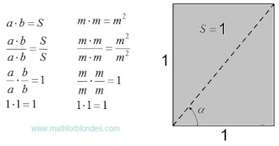 Second option of the unit area. Mathematics For Blondes.