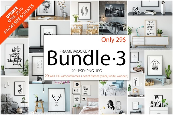 Download Mockup - Frame Mockup Bundle Vol 3