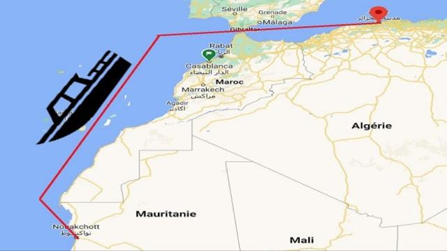 """سفينة """"إمدغاسن""""..تفاصيل أول رحلة مباشرة من الجزائر تصل ميناء نواكشوط"""